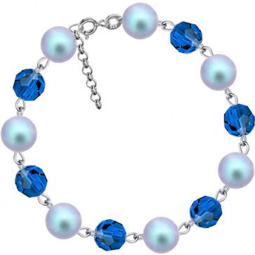 Bratara Blue Vaisa - Perle & Cristale Swarovski