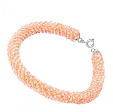 Bratara cristale swarovski light peach