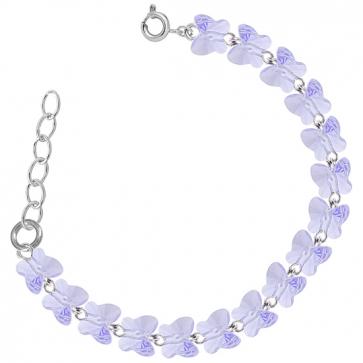 Bratara Fluturasi Violet - Cristale Swarovski