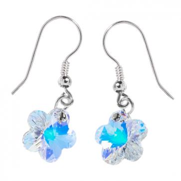 Cercei Floricele Aurora Boreala - Cristale Swarovski