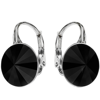 Cercei Xenia - Cristale Swarovski Rivoli Black