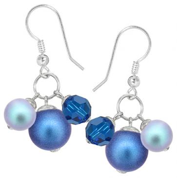 Cercei Blue Jamila - Cristale Swarovski