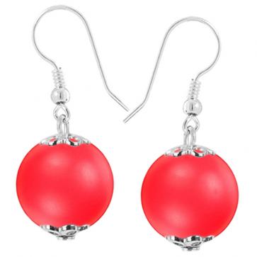 Cercei Neon Red - Perle Swarovski