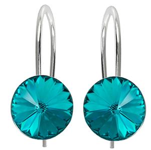 Cercei Rivoli Blue Zircon - Cristale Swarovski