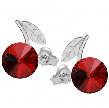 Cercei Cirese - Cristale Swarovski Rivoli Red Scarlet