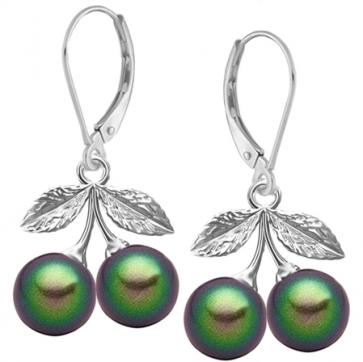 Cercei Cirese Verzi - Perle Swarovski