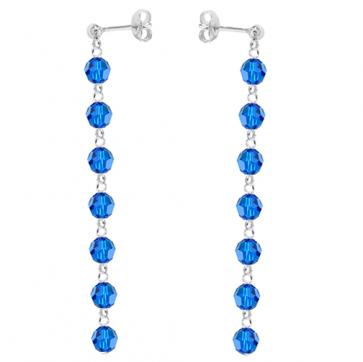 Cercei Cristale Swarovski - Capri Blue