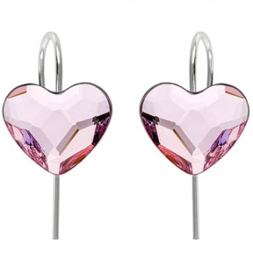 Cercei Rosaline Inimioare- Cristale Swarovski