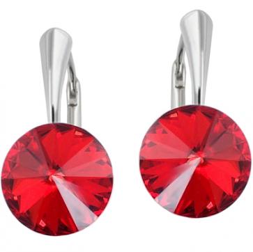 Cercei Rivoli - Cristale Swarovski Rosu Light Siam