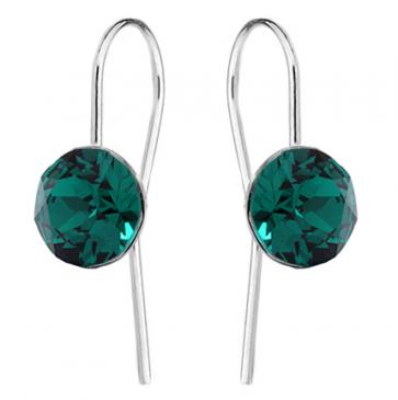 Cercei Tasha Cristale Swarovski Xirius - Emerald