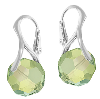 Cercei Peridot - Cristale Swarovski