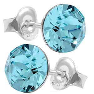 Cercei Cristale Swarovski Xirius - Aquamarine