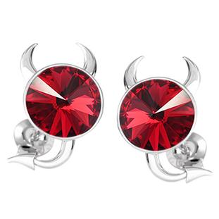 Cercei Red Little Devils - Cristale Swarovski