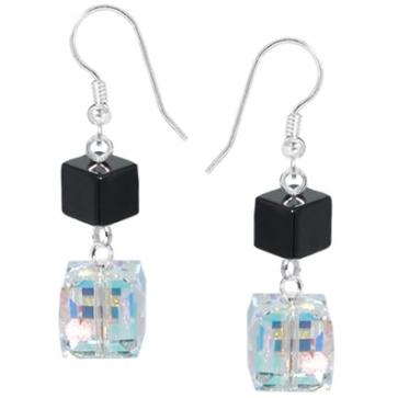 Cercei - Cristale Swarovski & Hematit