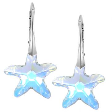 Cercei StarFish - Cristale Swarovski
