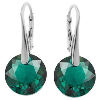 Cercei Emre -  Cristale Swarovski Emerald