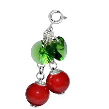 Charm Cherry - Perle & Cristale Swarovski