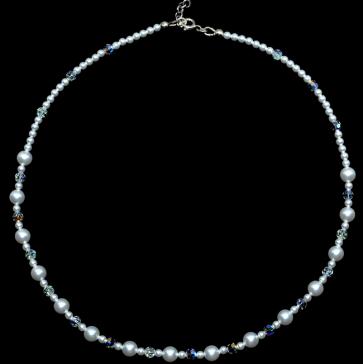 Colier perle & cristale swarovski
