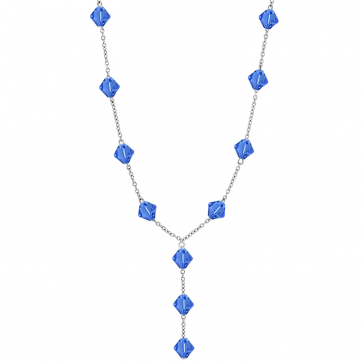 Colier Imelda - Cristale Swarovski Xilion Sapphire