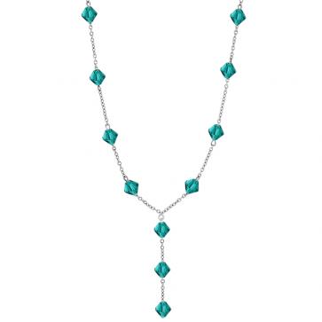 Colier Imelda -  Cristale Swarovski Xilion Zircon Blue