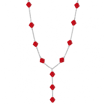 Colier Imelda - Cristale Swarovski Xilion Light Siam