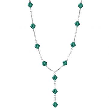 Colier Imelda - Cristale Swarovski Xilion Emerald