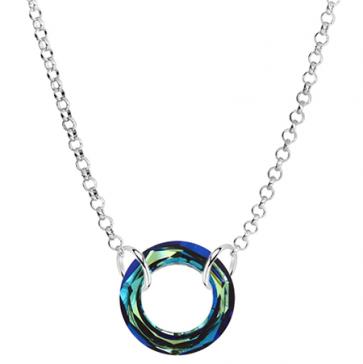 Colier Cosmic Ring Bermuda Blue - Cristal Swarovski