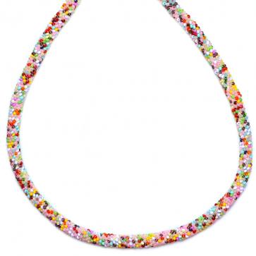 Colier Color Mix - Sticla Boemia