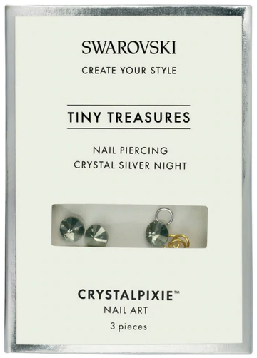 Cristale Swarovski - Crystal Pixie Tiny Treasures Nail Piercing Crystal Silver Night