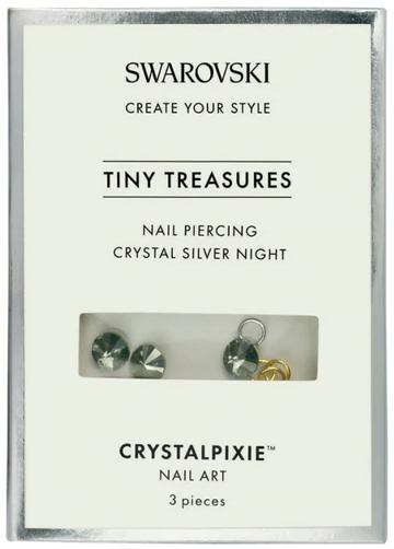 Cristale Swarovski - Crystal Pixie Tiny Treasures Nail Piercing Crystal Silver Night