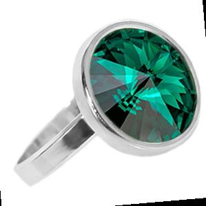 Inel Rivoli Emerald - Cristal Swarovski