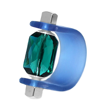 Inel Missi Concept - Verde Smarald - Cristal Swarovski