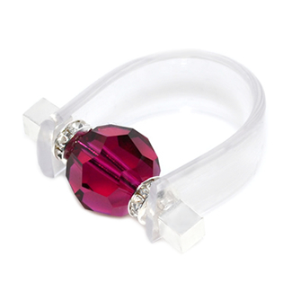 Inel Missi Concept - Clear Ruby