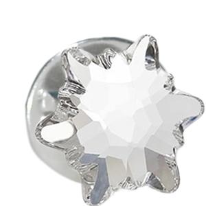 Insigna - Brosa - Cristal Swarovski - Floare de Colt Crystal Clear