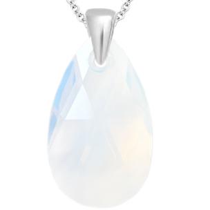 Pandantiv White Opal - Cristal Swarovski