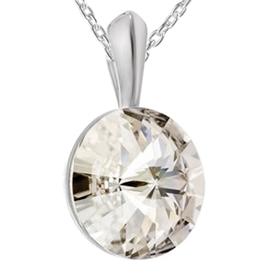 Pandantiv  Rivoli - Cristal Swarovski Silver Shade