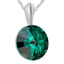 Pandantiv Rivoli Emerald - Cristal Swarovski