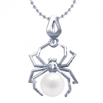 Pandantiv White Spider - Perla Naturala