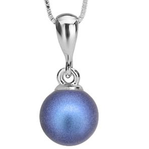 Pandantiv Becca - Perla Swarovski Iridescent Dark Blue