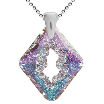 Pandantiv Growing Crystal Rhombus Vitrail Light - Cristal Swarovski - Designer Edition IRIS VAN HERPEN