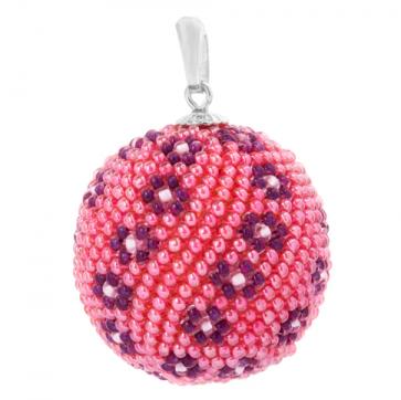 Pandantiv Pink - Sticla Boemia