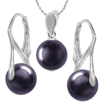 Set Dark Purple - Perle Swarovski