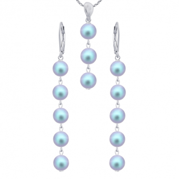 Set Iridiscent Blue - Perle Swarovski