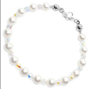 Bratara White - Cristale & Perle Swarovski