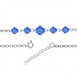 Bratara Wendi - Cristale Swarovski Xilion Sapphire