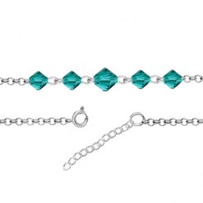 Bratara Wendi - Cristale Swarovski Xilion Blue Zircon