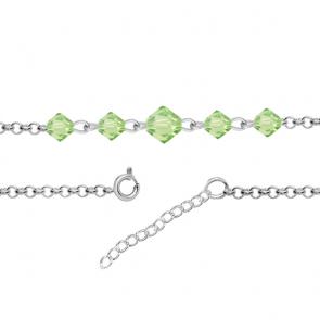 Bratara Wendi - Cristale Swarovski Xilion Peridot