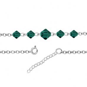 Bratara Wendi - Cristale Swarovski Xilion Emerald