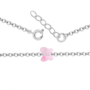 Bratara Fluturas Light Rose - Cristal Swarovski