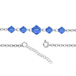 Bratara pentru Glezna - Cristale Swarovski Xilion Sapphire